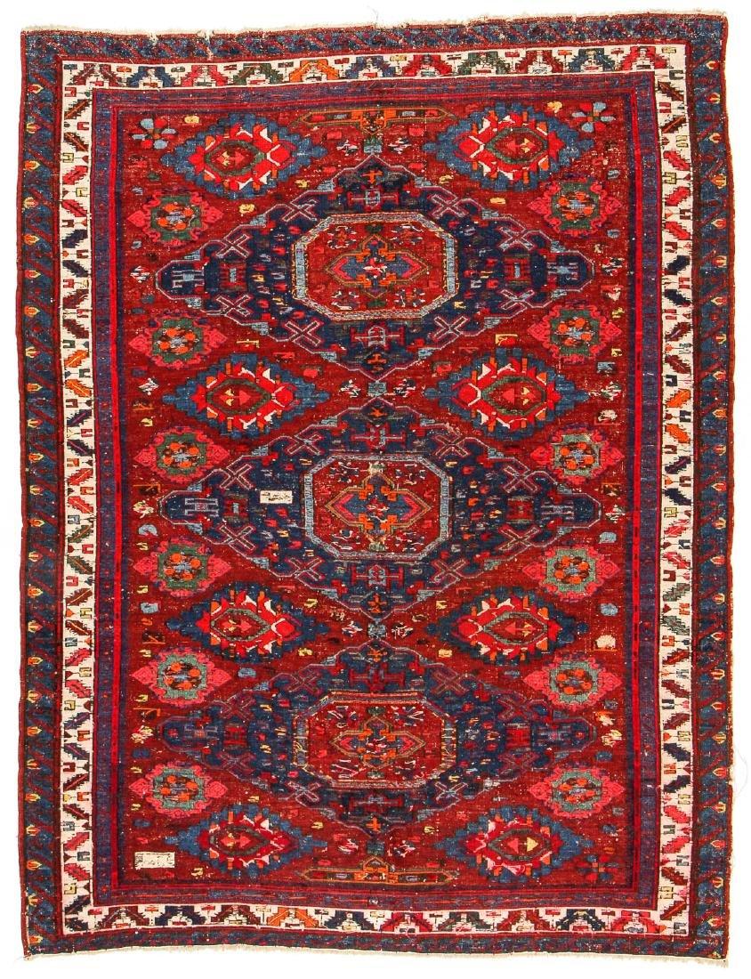 Antique Sumak Rug, Caucasus: 5'3'' x 6'8'' - 9