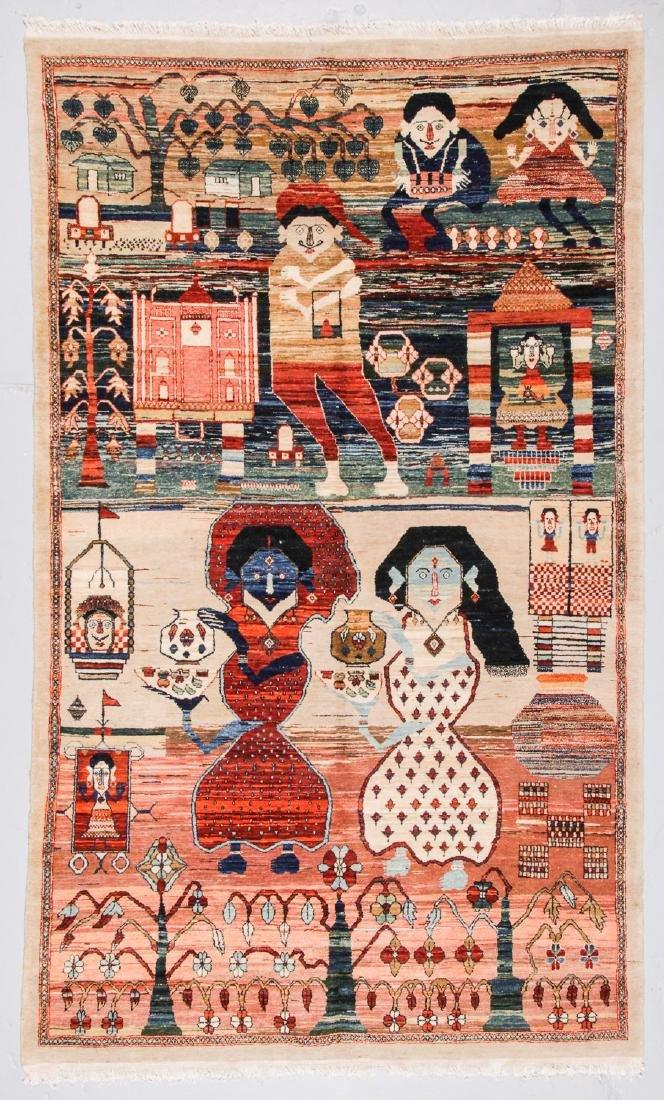 Mahindra Folk Rug, India: 6'2'' x 10'2''
