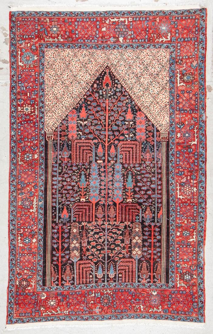 Bakshaish Style Prayer Rug: 4'9'' x 7'10'' - 7