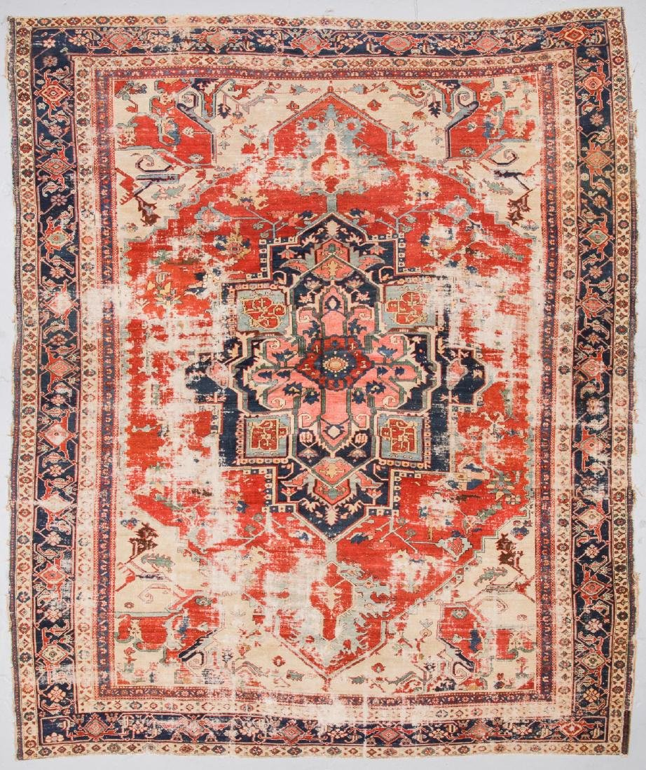 Antique Serapi Rug, Persia: 11'4'' x 13'11''