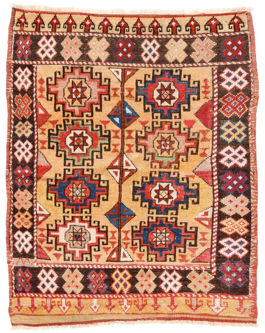 Antique Konya Rug, Turkey: 3'10'' x 4'10'' (117 x 147