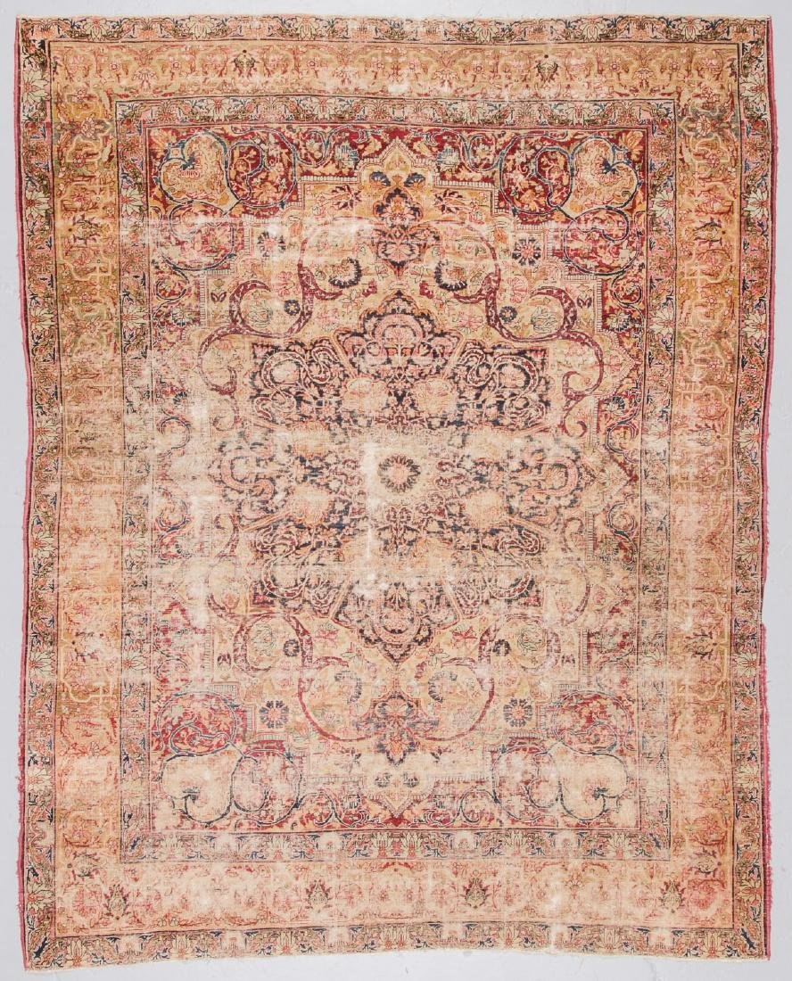 Antique Lavar Kerman Rug, Persia: 7'3'' x 9'
