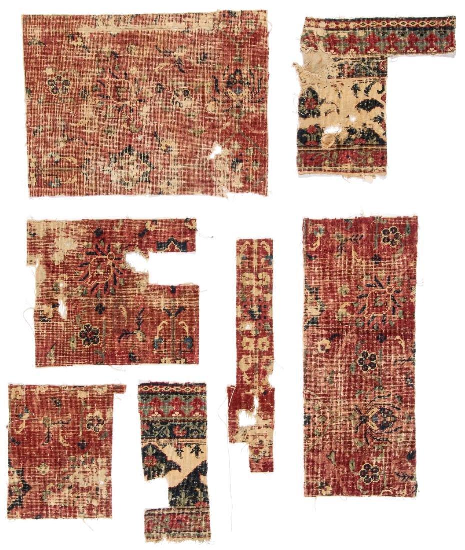 Pre Circa 1800 Persian or Mughal Carpet Fragments (7)