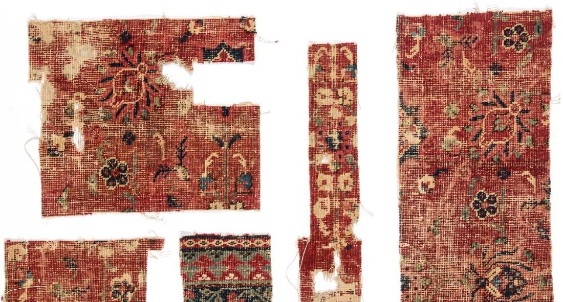 Pre Circa 1800 Persian or Mughal Carpet Fragments (7) - 3