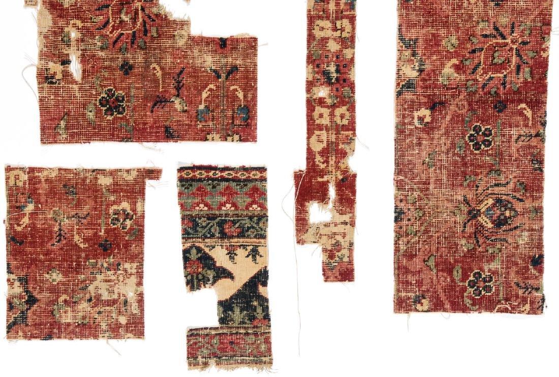 Pre Circa 1800 Persian or Mughal Carpet Fragments (7) - 4