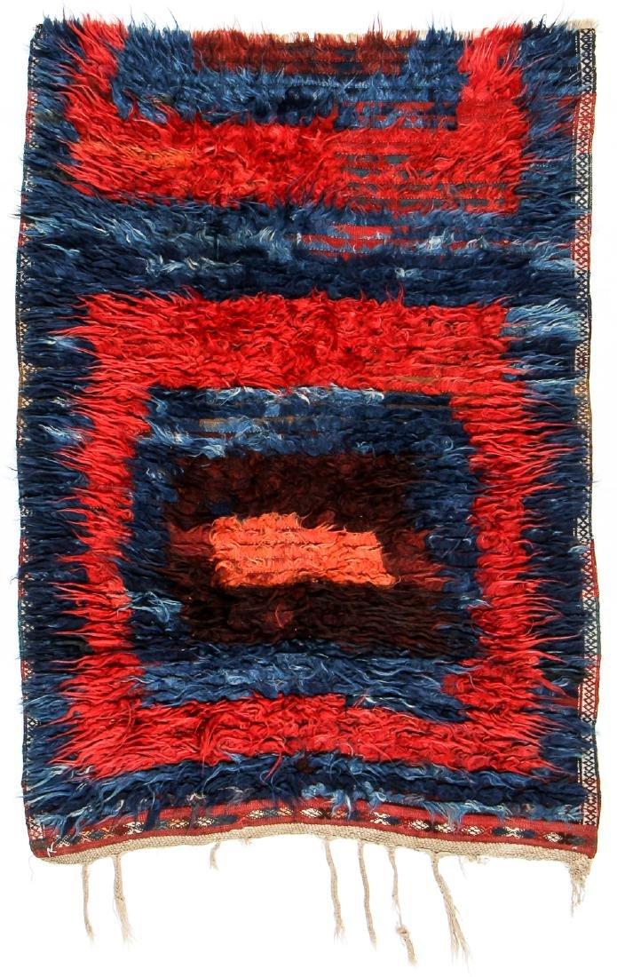 Antique Tulu Rug, Turkey: 3'9'' x 5'6'' (114 x 168 cm)