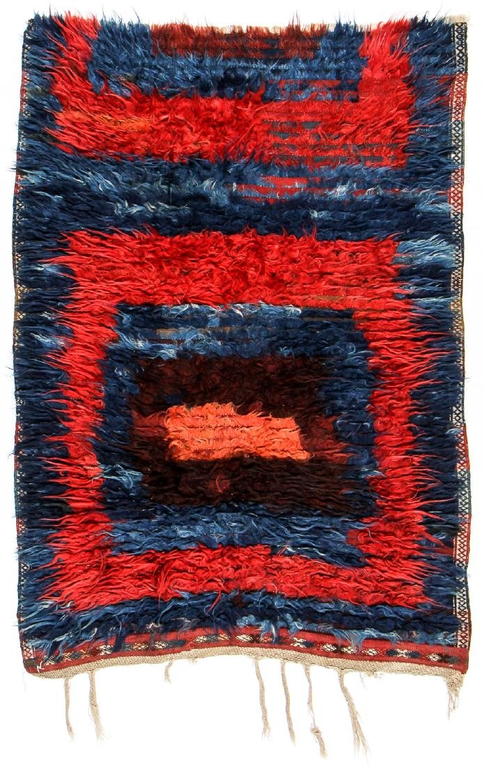 Antique Tulu Rug, Turkey: 3'9'' x 5'6'' (114 x 168 cm)