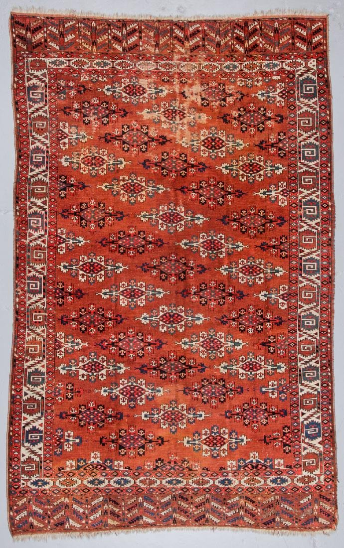 Antique Yomud Main Rug, Turkestan: 6'6'' x 10'4''