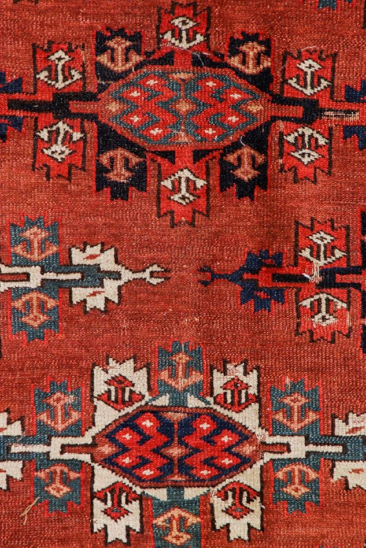 Antique Yomud Main Rug, Turkestan: 6'6'' x 10'4'' - 2