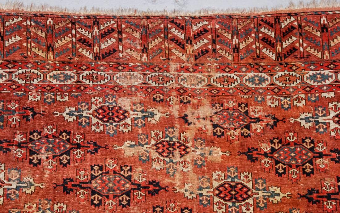 Antique Yomud Main Rug, Turkestan: 6'6'' x 10'4'' - 4