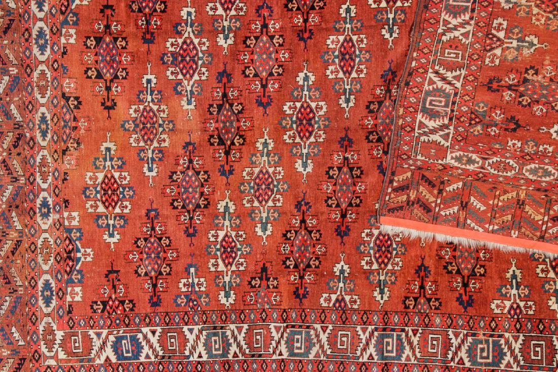 Antique Yomud Main Rug, Turkestan: 6'6'' x 10'4'' - 5