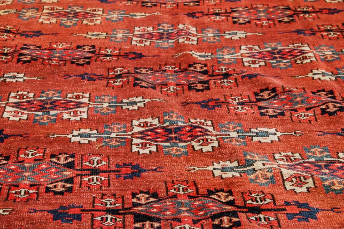Antique Yomud Main Rug, Turkestan: 6'6'' x 10'4'' - 7