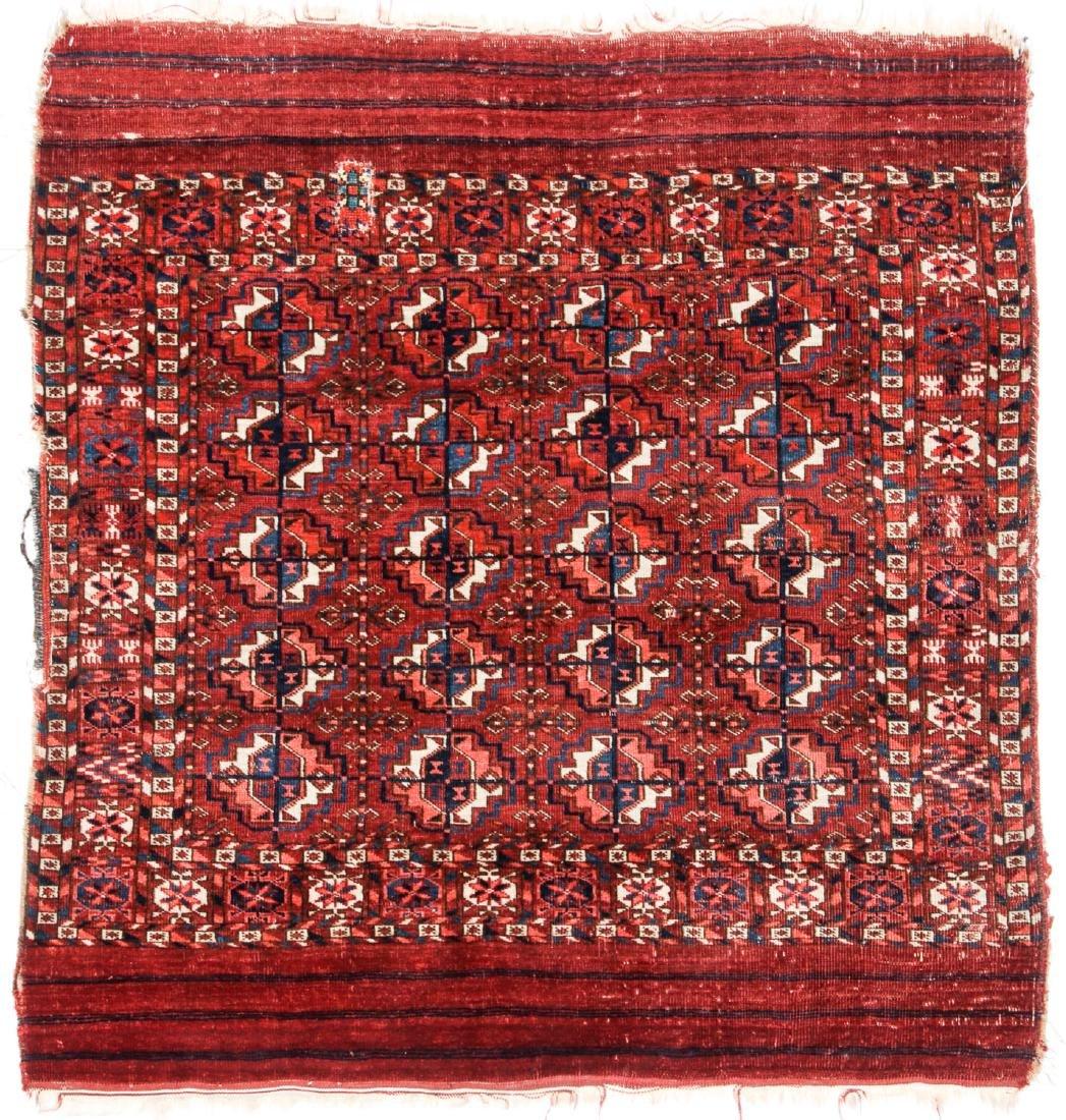 Antique Tekke Turkmen Wedding Rug: 3'3'' x 3'5'' (99 x