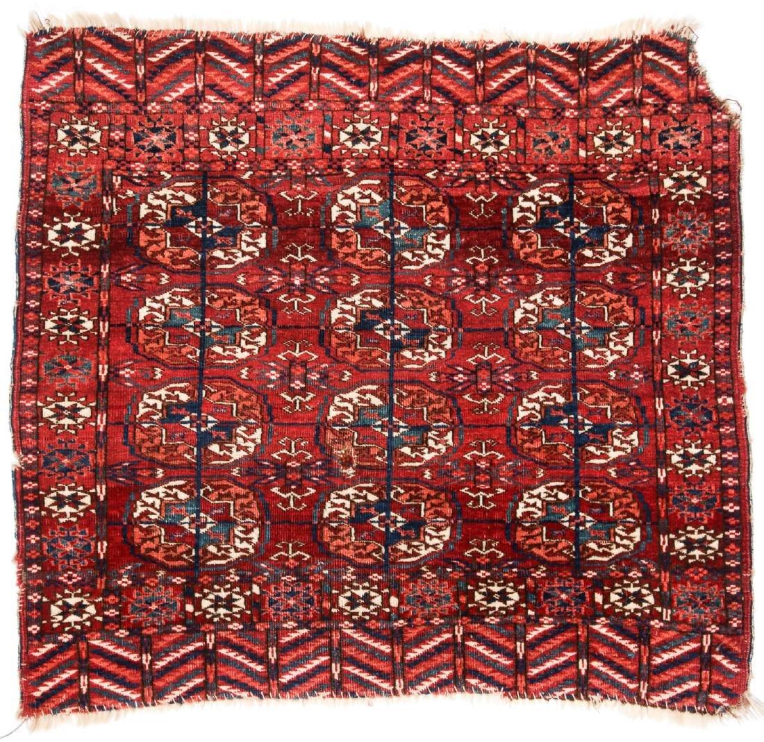Antique Tekke Turkmen Rug: 3' x 2'9'' (91 x 84 cm)
