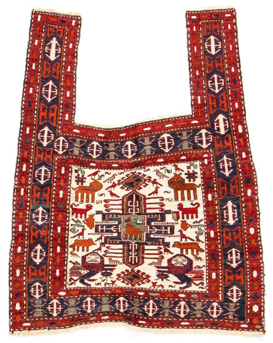 West Persian Sumak Horse Cover: 55'' x 43'' (140 x 109