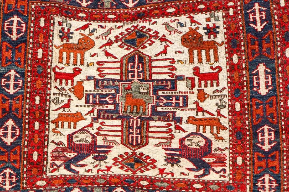 West Persian Sumak Horse Cover: 55'' x 43'' (140 x 109 - 2