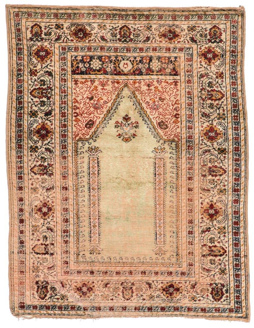 Antique Ottoman Era Turkish Prayer Rug