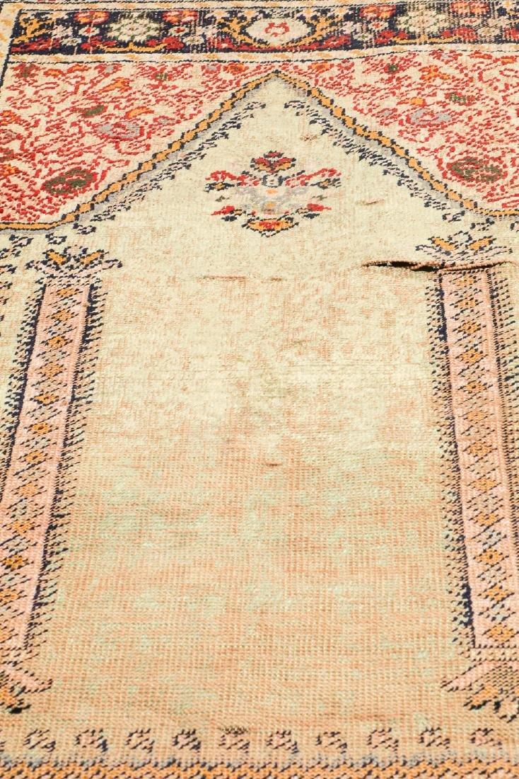 Antique Ottoman Era Turkish Prayer Rug - 5