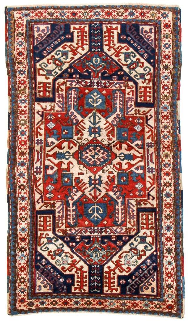 Kazak Rug, Caucasus: 3'11'' x 6'7'
