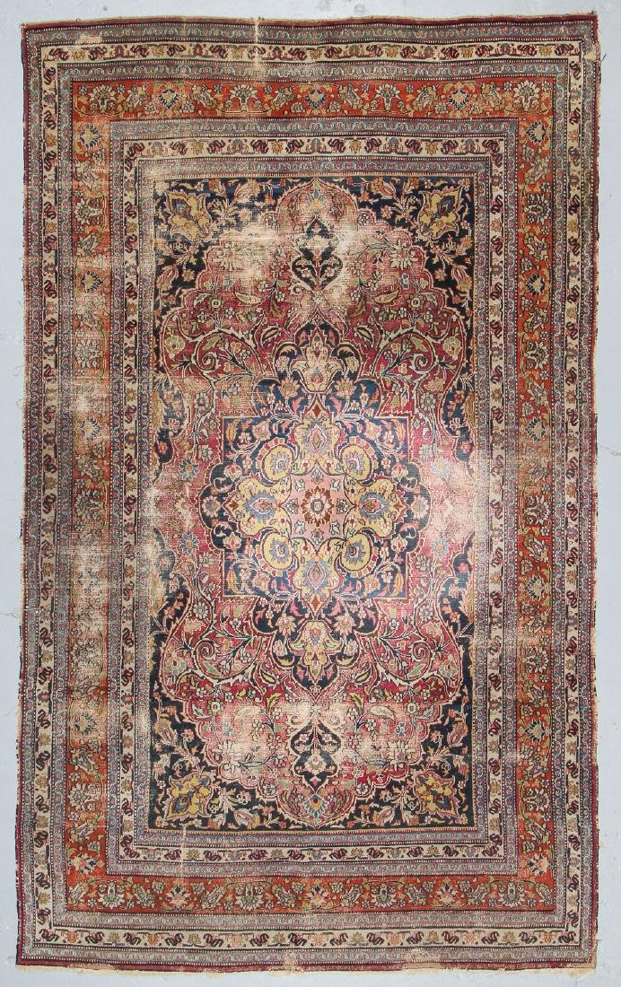 Antique Meshed Rug, Persia: 6'4'' x 10'9''