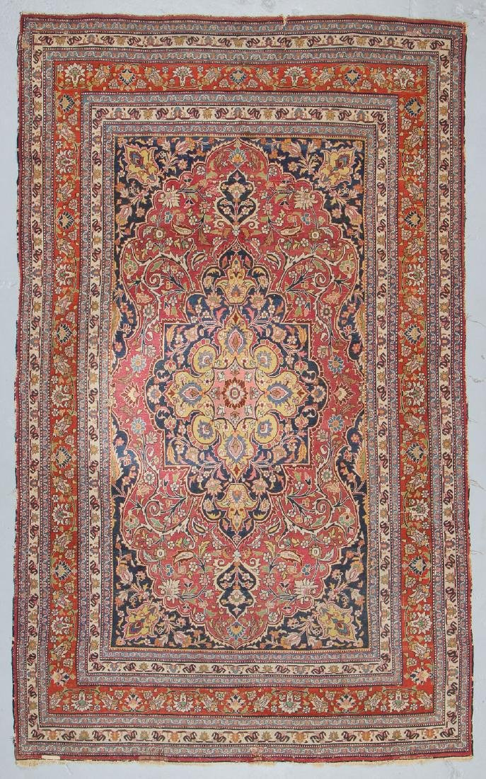 Antique Meshed Rug, Persia: 6'4'' x 10'9'' - 7