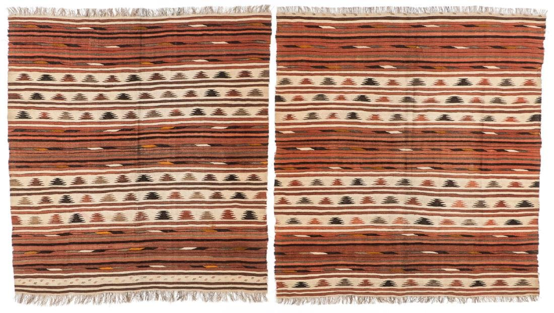 Pair of Antique Central Asian Kilims