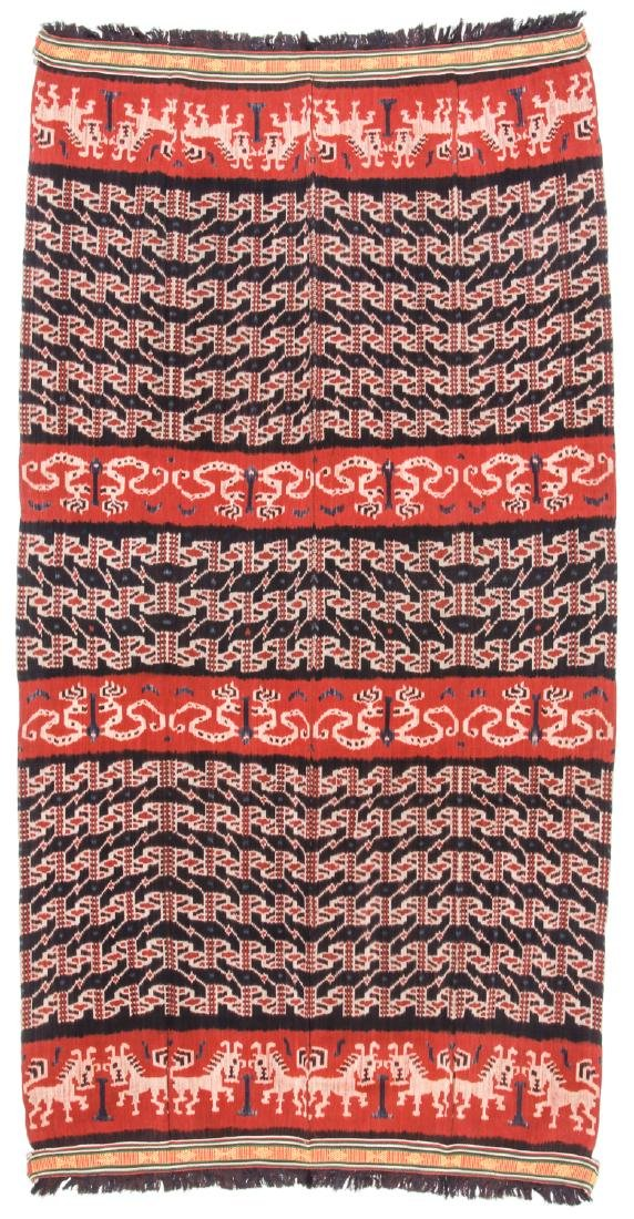 Man's Hinggi/Shoulder Cloth, East Sumba, Mid 20th C. - 4