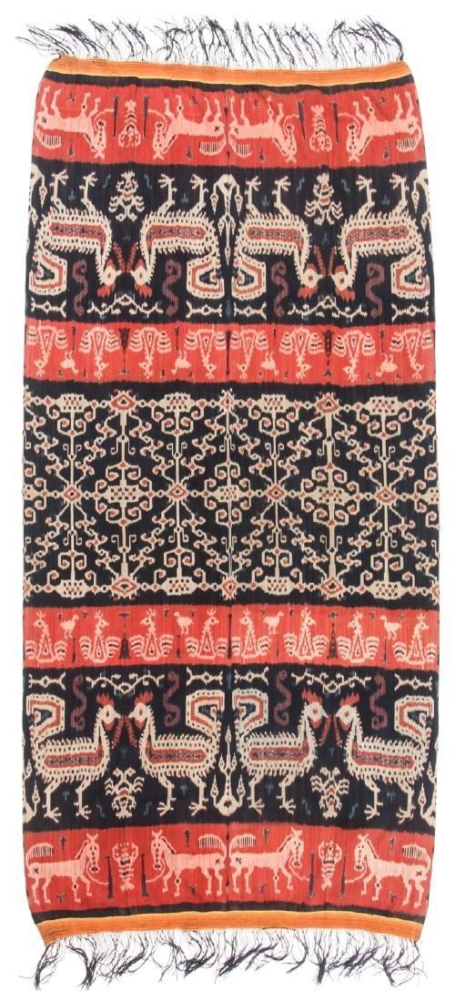 Man's Hinggi/Shoulder Cloth, East Sumba, Mid 20th C. - 4