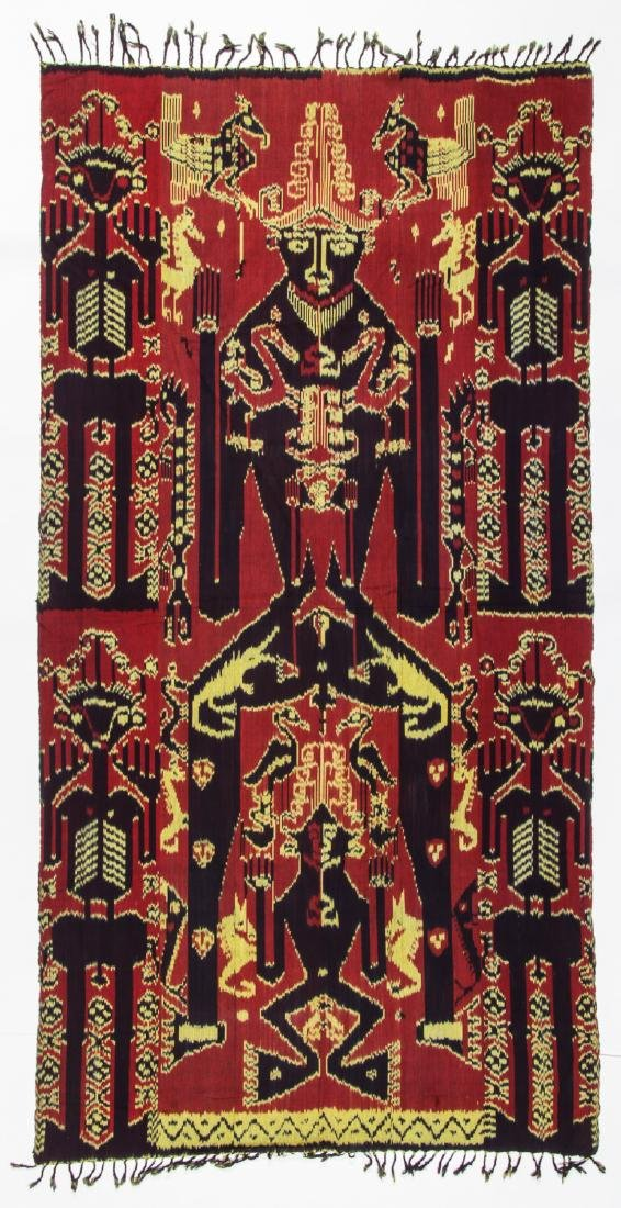 3 Vintage Indonesian Ikat Textiles - 10