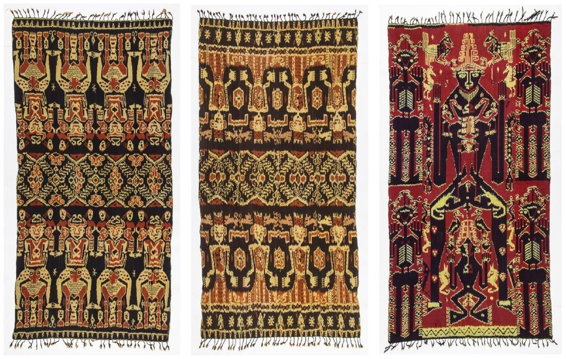 3 Vintage Indonesian Ikat Textiles
