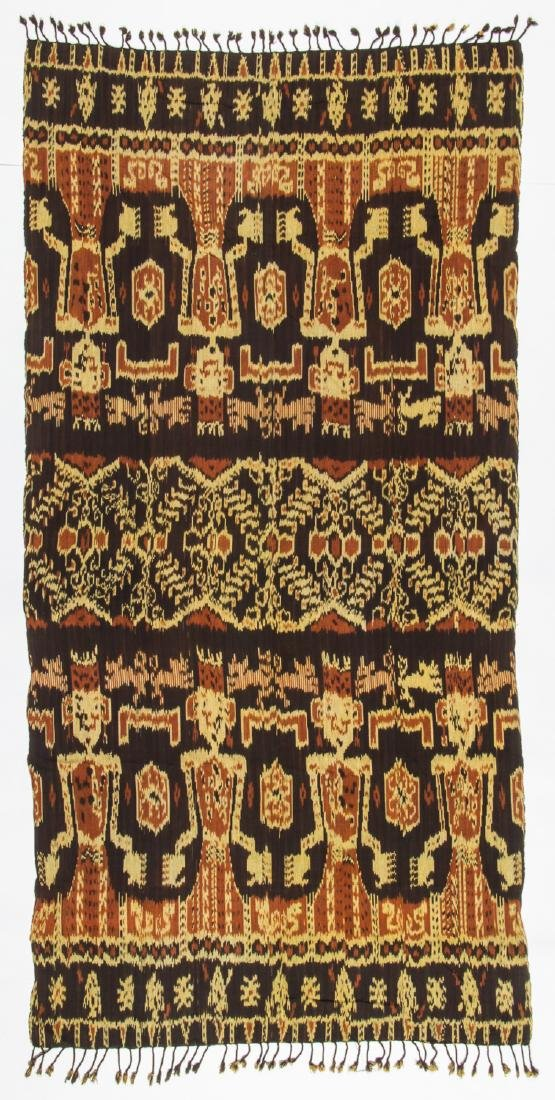 3 Vintage Indonesian Ikat Textiles - 5