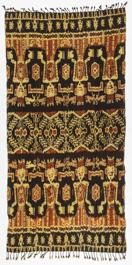 3 Vintage Indonesian Ikat Textiles - 7