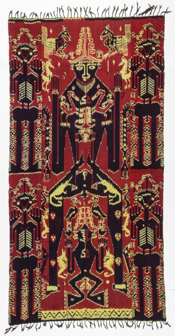 3 Vintage Indonesian Ikat Textiles - 8