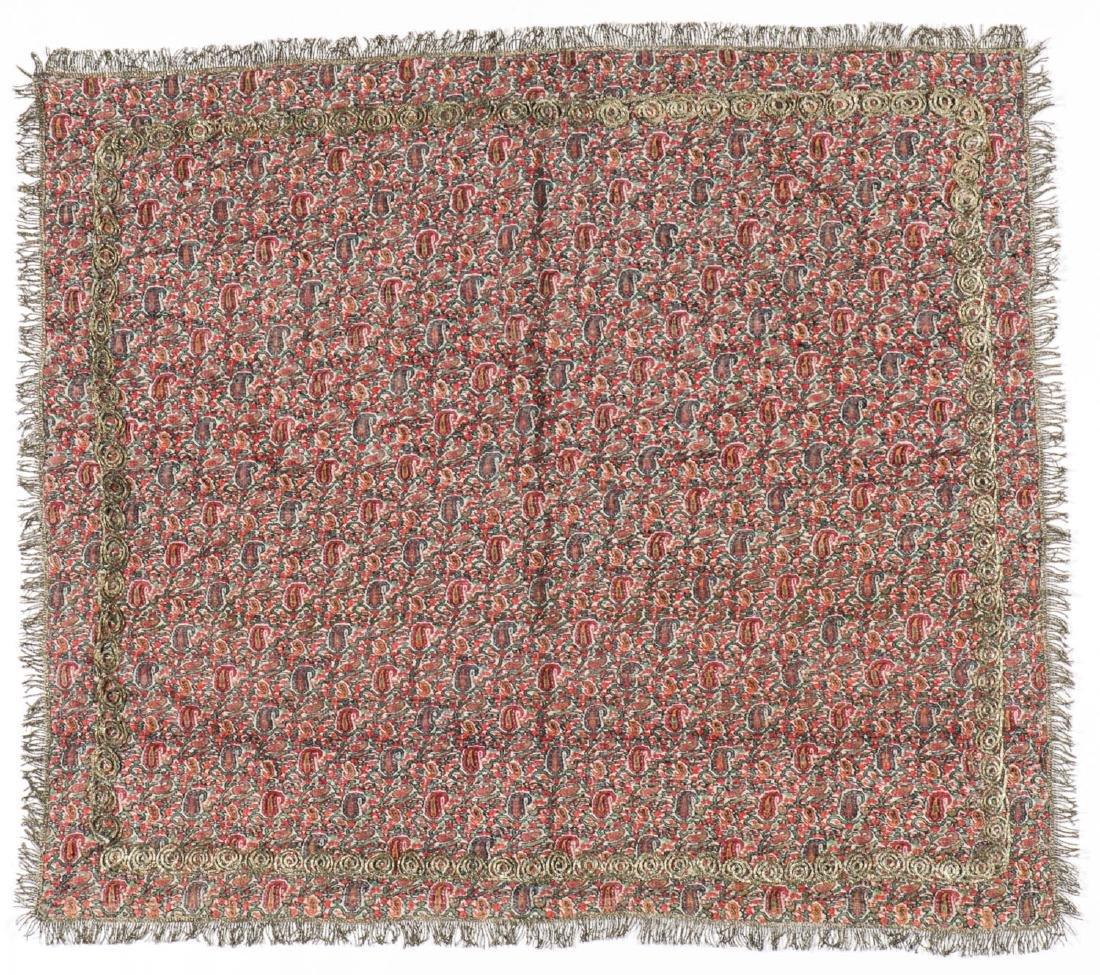 19th C. Termeh Wool Boteh Cloth, Persia