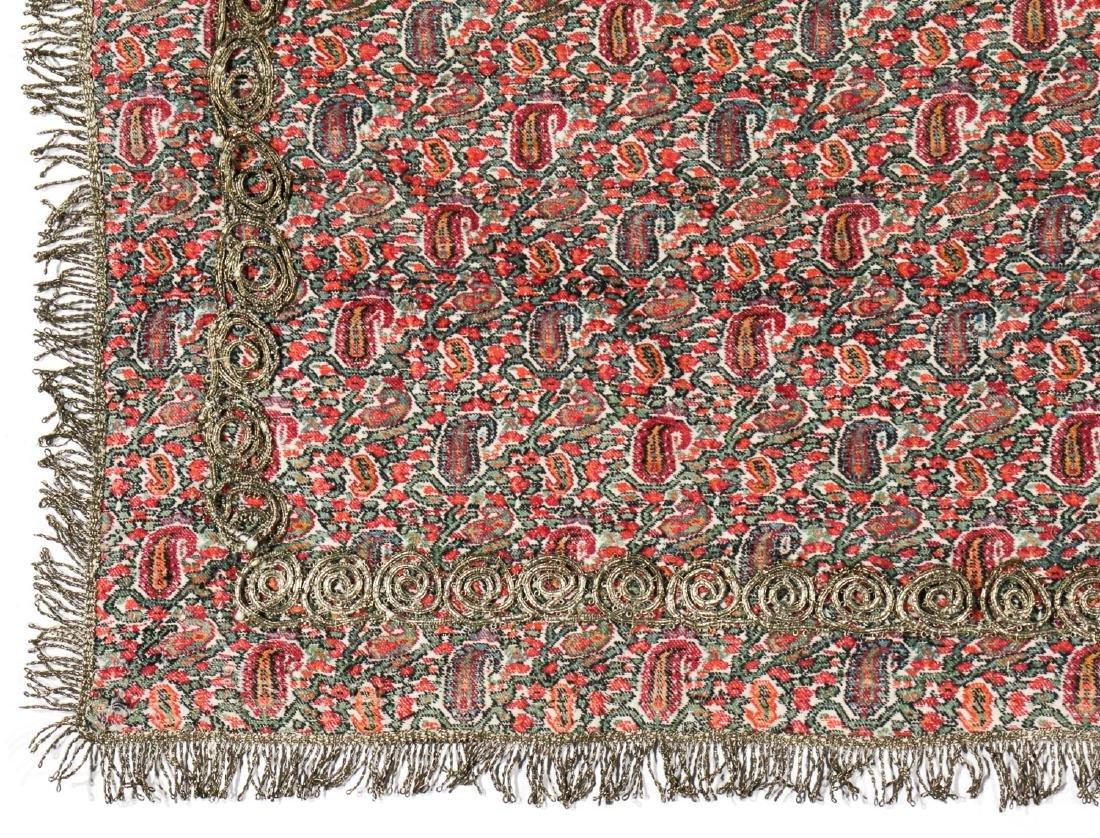 19th C. Termeh Wool Boteh Cloth, Persia - 3