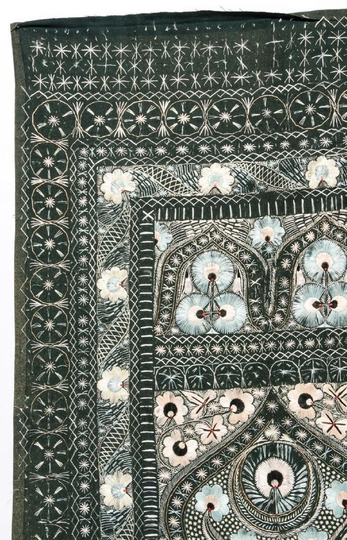 Antique Persian Silk and Wool Felt Prayer Panel - 2