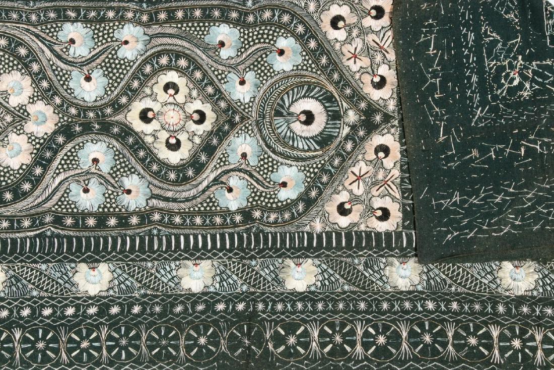 Antique Persian Silk and Wool Felt Prayer Panel - 3