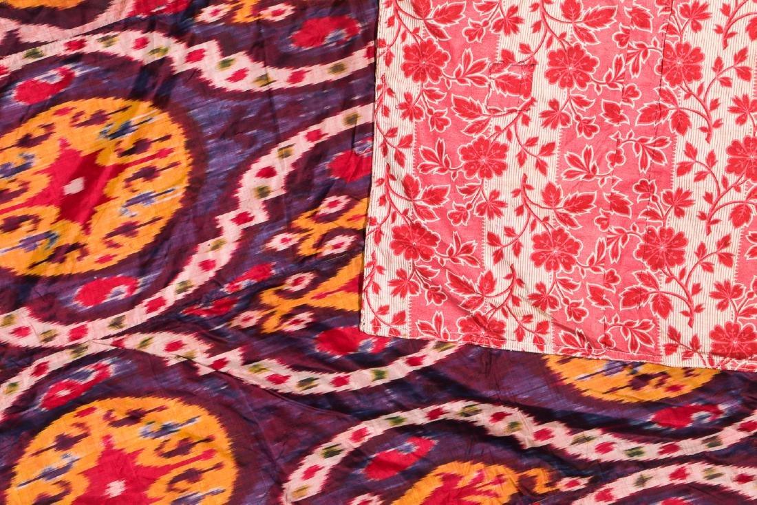 Antique Uzbek Silk Ikat: 88'' x 57' - 2