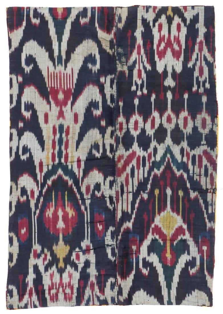 Antique Uzbek Velvet Ikat Panel - 4