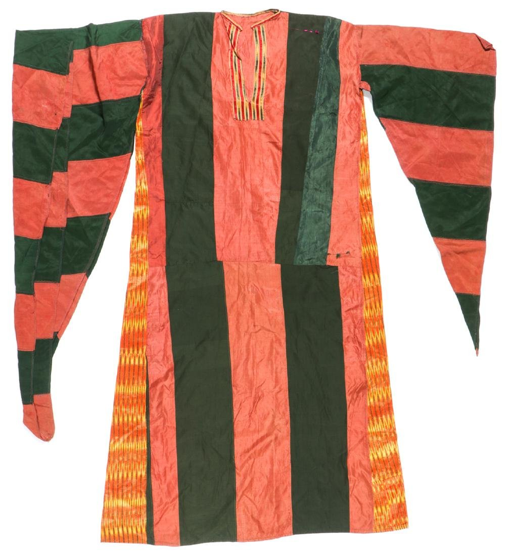 Antique Syrian Bedouin Silk and Ikat Robe