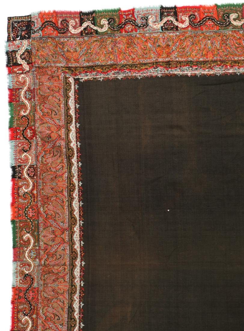 Antique Kashmir Foldover Shawl, India - 2