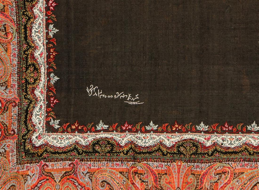 Antique Kashmir Foldover Shawl, India - 3
