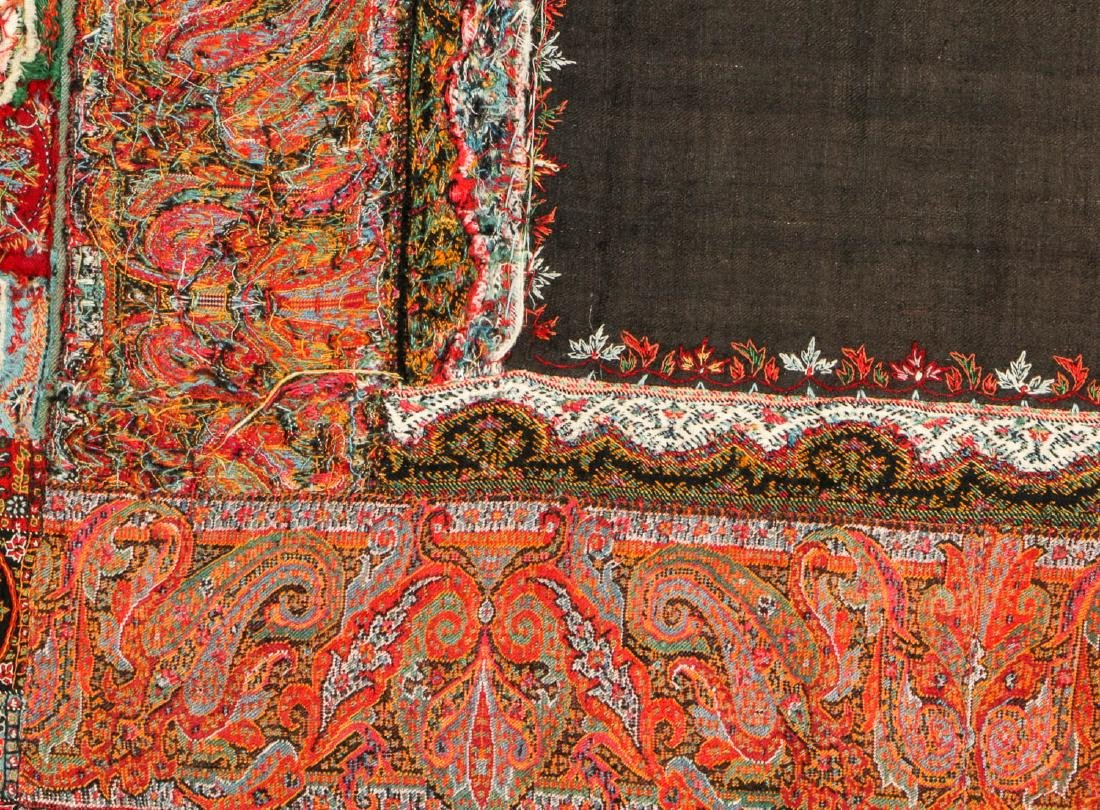 Antique Kashmir Foldover Shawl, India - 4