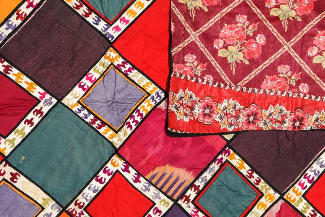 Antique Central Asian Bokhara Applique Quilt - 2