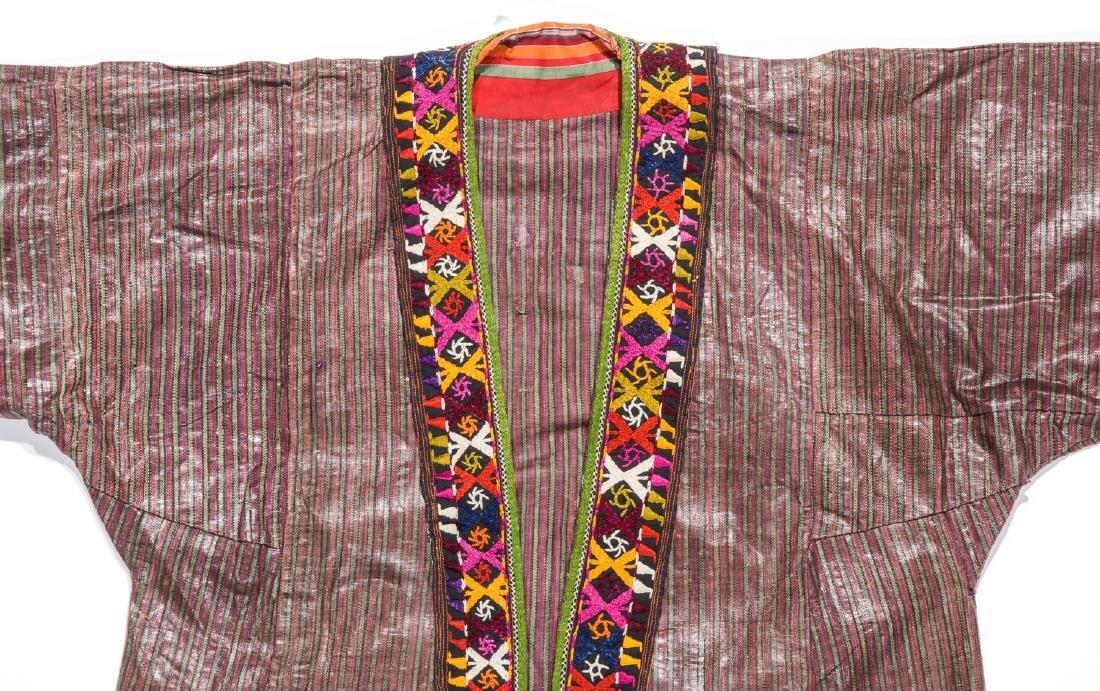 Antique Tashkent Silk/Cotton Woman's Robe - 2