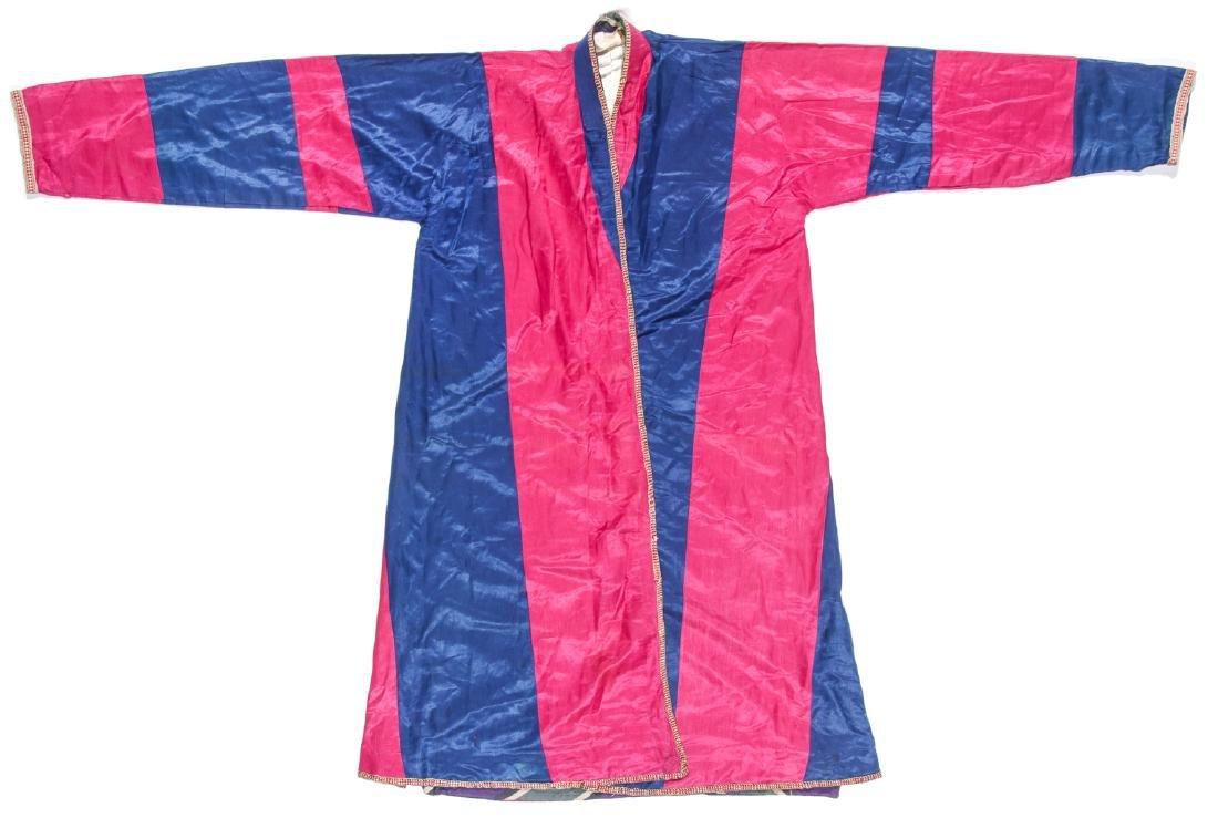 Antique Central Asian Ferghana Uzbek Silk Men's Coat
