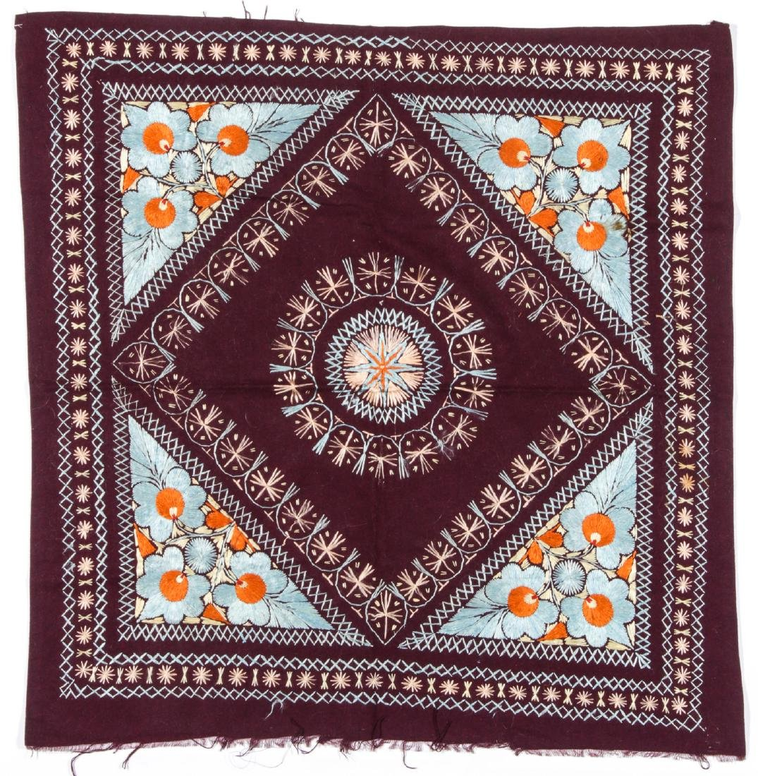 Middle Eastern Silk on Wool Embroidery