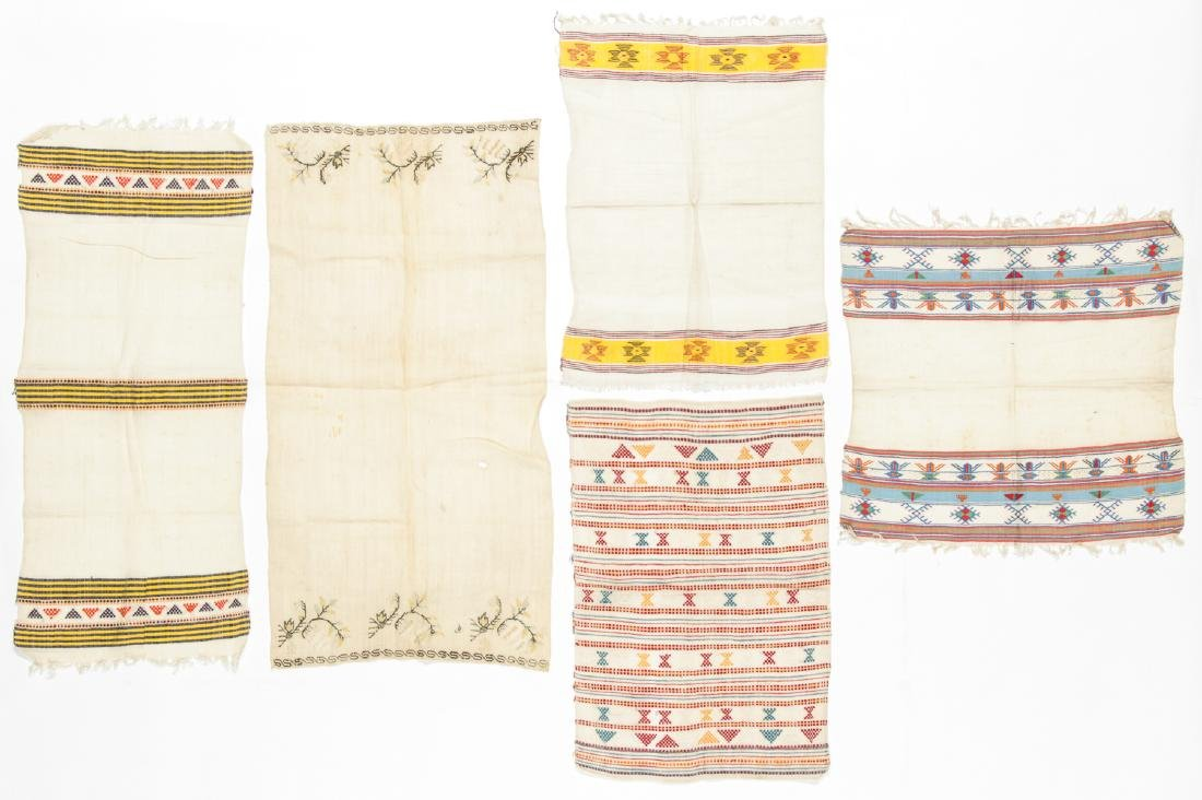 5 Antique Greek Island Textiles