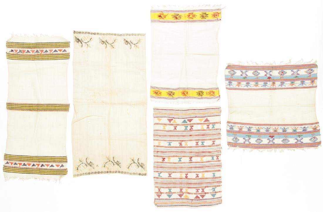 5 Antique Greek Island Textiles - 6