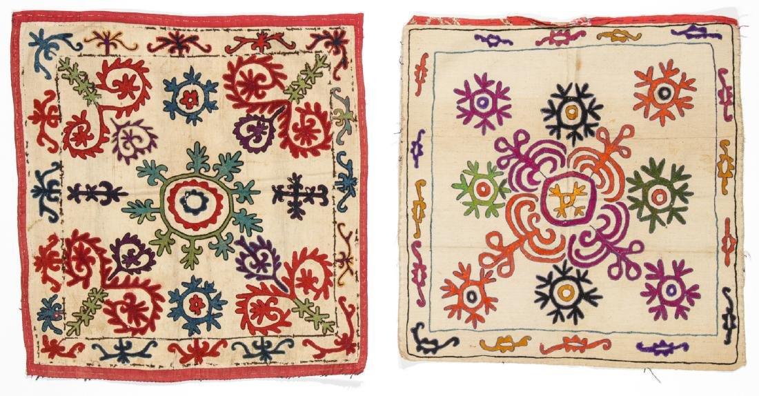 Pair of Antique Central Asian Kirghiz Embroideries